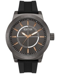 Kenneth Cole Reaction New York Men's Black Silicone Strap Watch 49Mm 10030944