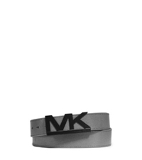 Michael Kors Saffiano Leather Belt Grey