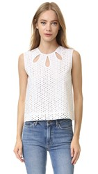 Jenni Kayne Cutout Shell Top White