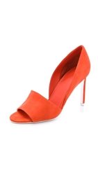 Vince Saffron Open Toe D'orsay Pumps Flame