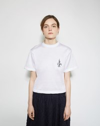Julien David Printed Tee White