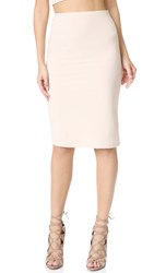 Alice Olivia Air Terri Pencil Skirt Pale Nude