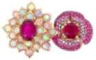 Wendy Yue Ruby And Pink Sapphire Ring