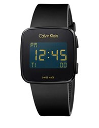 Calvin Klein Swiss Digital Future Black Rubber Strap Watch 39Mm Navy