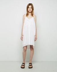 Maison Martin Margiela Tonal Striped Shirtdress White
