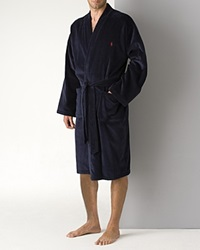 Polo Ralph Lauren Men's Kimono Cotton Velour Robe Navy