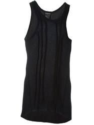 Ann Demeulemeester Fitted Tank Top Black