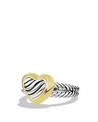David Yurman Cable Heart Ring With Gold Silver Yellow Gold