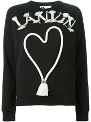Lanvin Logo Rope Applique Sweatshirt Black