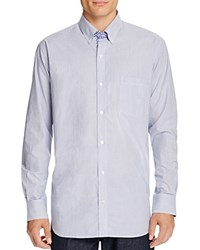 Tailorbyrd Pinstripe Classic Fit Button Down Shirt Royal
