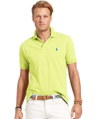 Polo Ralph Lauren Big And Tall Short Sleeve Mesh Polo Neon Yellow