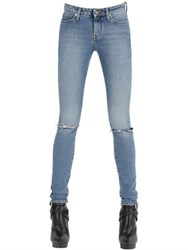 Saint Laurent Destroyed Cotton Denim Jeans