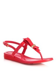 Cole Haan Marnie Grand Patent Leather Sandals Red Black