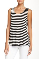 Olivia Moon Hi Lo Zip Back Tank Black
