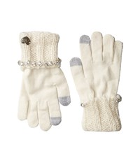 Betsey Johnson On The Rocks I Touch Gloves Ivory Extreme Cold Weather Gloves White