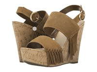 Guess Shanan Tan Suede Women's Wedge Shoes
