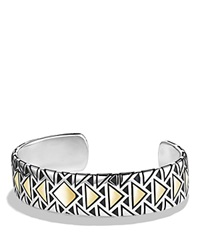 David Yurman Cuff Bracelet With 18K Gold Silver Gold