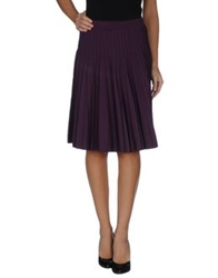 Salvatore Ferragamo Knee Length Skirts Dark Purple