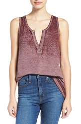 Bp Women's Project Social T Burnout Tunic Tank Burgundy Stem