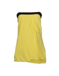 Guess By Marciano Tube Tops Yellow