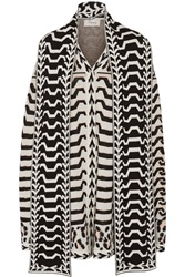 Temperley London Gabriele Jacquard Knit Merino Wool Cape