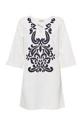 Great Plains Mozambique Broderie Dress White