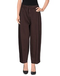 Pt01 Trousers Casual Trousers Women Dark Brown