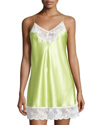 Oscar De La Renta Pink Label Prism Pretty Nightie W Lace Green