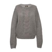 Lowie Grey Mohair Leaf Jumper