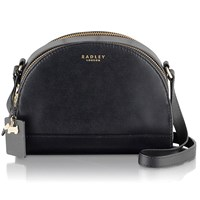 Radley Odell Leather Small Across Body Bag Black