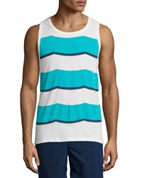 Sol Angeles Rugby Waves Graphic Tank Blue Blue Pattern