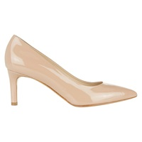 Hobbs Pippa Patent Leather Pointed Court Shoes Deep Nude