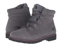 The North Face Ballard Roll Down Se Smoked Pearl Grey Deep Garnet Red Women's Lace Up Boots Gray