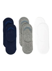 Topman Assorted Colour No Show Socks With Gel Pads 6 Pack Multi