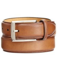 Tasso Elba Men's Feather Edge Dress Belt Only At Macy's Tobacco