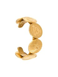 Chanel Vintage Astrology Coin Cuff Metallic