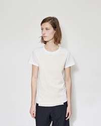 Y's Knit Short Sleeve Tee White