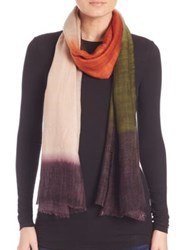 Bindya Ombre Cashmere And Silk Scarf Multi