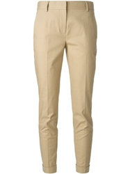 Burberry Brit Slim Cropped Trousers Nude And Neutrals