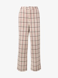 Ganni Duncan Wool Blend Check Trousers Multi Coloured