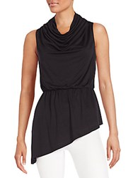 Lisa And Lucy Cowlneck Tunic Top Black