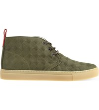 Del Toro Alto Chukka Quilted Leather Trainers Green