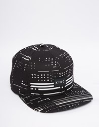 King Apparel Glitch Snapback Cap Black