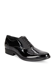 Cole Haan Madison Leather And Patent Leather Oxfords Black