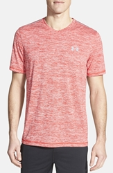 Under Armour 'Ua Techtm' Loose Fit V Neck T Shirt Red Steel