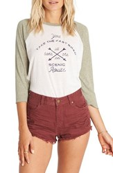 Billabong Women's 'Highway' Distressed Denim Shorts Mauvewood