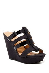 Joe's Jeans Evana Wedge Sandal Black
