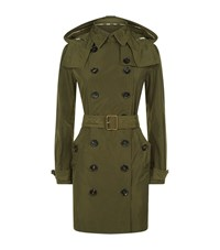 Burberry Taffeta Trench Coat Female Khaki