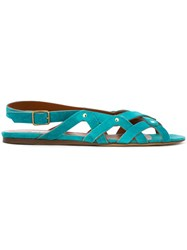 Michel Vivien 'Sofia' Flat Sandals Blue