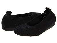 Arche Lilly Noir Nubuck Women's Flat Shoes Black